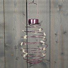 Solar Laterne Schmetterlingt zum hängen Stimmungsleuchte Party-Leuchte Dekoleuchte Dekoration für Garten, Balkon, Terrasse. (Rosa)