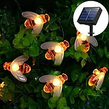 Solar LED Bienen Lichterkette,DINOWIN 30 LED