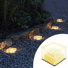Solar LED Eisblume Bodenlampe Rasen Lampe