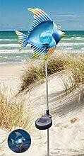 Solar LED Gartenstecker Fisch mit Erdspiess 2483