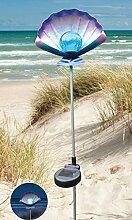 Solar LED Gartenstecker Muschel mit Erdspiess 2485