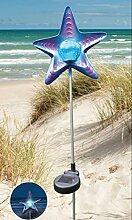 Solar LED Gartenstecker Seestern mit Erdspiess 2484