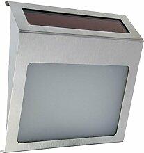 Solar LED Hausnummer mit Dämmerungsschalter,
