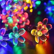 Solar LED Lichterkette, Außen Blumen Glühbirnen