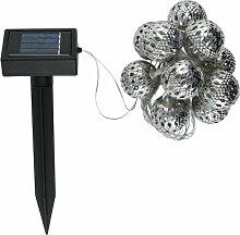Solar LED Lichterkette BALOTA 12-teilig Metallkugeln, 4m lang
