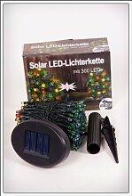Solar LED Lichterkette mit 300 LEDs - Farbe: bun