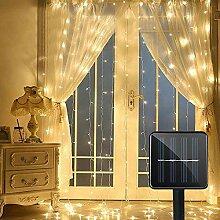 Solar-LED Lichtervorhang, DINOWIN Vorhang
