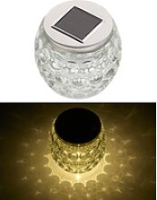 Solar-LED-Windlicht aus Glas, mit tollem
