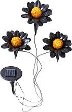 Solar Leuchte Flower 3er-Set, schwarz