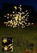 Solar Lichterbaum mit 128 LEDs - Ahornbaum