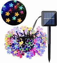 Solar Lichterkette, 50 LED Lichterkette Außen