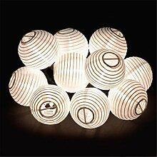 Solar Lichterkette Aussen Lampions Dekoration für