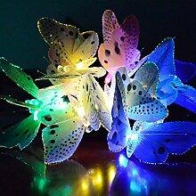 Solar Lichterkette, hinmay 12LED Schmetterling