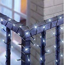Solar Lichterkette inkl. Solarpanel Garten LED Beleuchtung Außenleuchte NEU