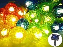 Solar Lichterkette Kugelleuchte Kugellampe