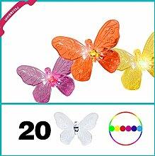 Solar Lichterkette Schmetterling Butterfly in