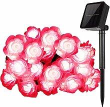 Solar Lichterkette,SUAVER Wasserdicht 50LED Rose