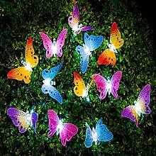 Solar Lichterkette, uxradg 12LED Schmetterling