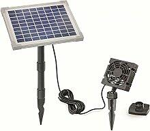 Solar Lüfterset FreshAir 5W Luftstrom max. 90m3 Lüfter 92x92mm Solarventilator Belüftungsset Ventilator 101862