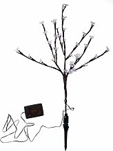 Solar Mini-Baum 36 Led`s 75cm 12 versch. Funktionen Gartendeko Beleuchtung LED
