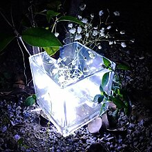 Solar Outdoor Lichterkette Clode® 2M 20LED Knopf Zelle powered Silber Kupferdraht Mini Fairy String Lichter (Weiß)