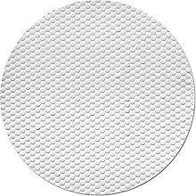 Solar-Poolabdeckung, rund, weiß, UV-Schutz,