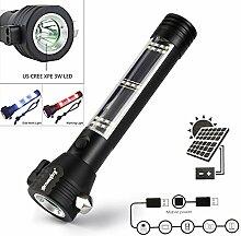 Solar Powered 3W LED Taschenlampe Sicherheit