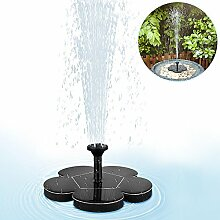 Solar Springbrunnen , Mixigoo Solar Teichpumpe Brunnen mit 1.4W Monokristalline Solar Panel Solarpumpe Solar Wasserpumpe Solar schwimmender Fontäne Pumpe für Gartenteich, Fisch-Behälter, kleiner Teich