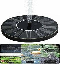 Solar Springbrunnen Teichpumpe für Garten;Solarbatterie Brunnen und pumpen mit Monokristalline Solar Panel für Gartenteich