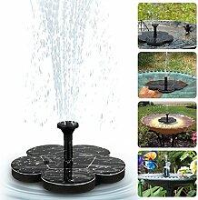 Solar Springbrunnen, tronisky Solar Teichpumpe Springbrunnen Solarpumpe mit 4 Verschiedene Düsen, Solar Wasserpumpe Fontäne Pumpe Solar Schwimmender für Gartenteich, Vogel-Bad, Fisch-Behälter, Kleiner Teich