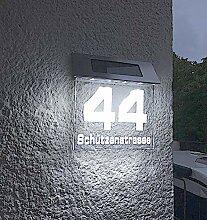 Solar Stars beleuchtete Hausnummer 140mm