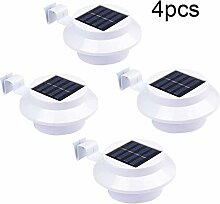 Solar Strahler 4er Set, 3 Led Solarlampen mit