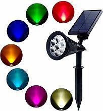 Solar Strahler, 7 LED Farbwechsel Wasserdichte