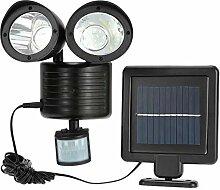 Solar-Strahler Doppelkopf Lampe Solar Power