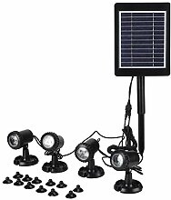 Solar Teichbeleuchtung, LED Teichbeleuchtung mit 4