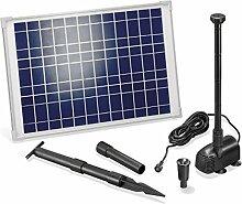 Solar Teichpumpe 20 Watt Solarmodul 1350 l/h