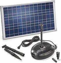 Solar Teichpumpe 25 Watt Solarmodul 630 l/h Förderleistung 1,3 m Förderhöhe esotec pro Komplettset Gartenteich, 101729