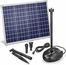 Solar Teichpumpe 50 Watt Solarmodul 1700 l/h Förderleistung 2,0 m Förderhöhe esotec pro Komplettset Gartenteich, 101731