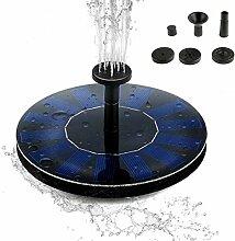 Solar Teichpumpe, MOOWEE Solar Panel Freie stehende Brunnen und pumpe Solar Wasserpumpe für Gartenteich Springbrunnen für Gartenteich,Vogel-Bad, Fisch-Behälter, kleiner Teich