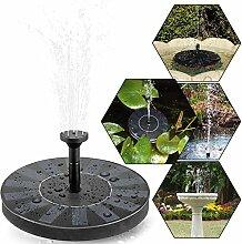 Solar Teichpumpe, tronisky Solar Panel Freie stehende Brunnen und pumpe Solar Wasserpumpe für Gartenteich Springbrunnen für Gartenteich,Vogel-Bad, Fisch-Behälter, kleiner Teich