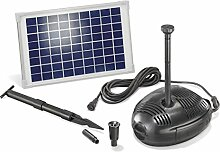 Solar Teichpumpenset Milano 10W Solarmodul 630 l/h Förderleistung Gartenteich Pumpenset Teich 101720