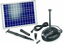 Solar Teichpumpenset Roma 25W Solarmodul 1300 l/h Förderleistung Gartenteich Pumpenset Teich 101722