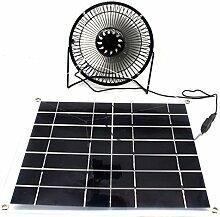 Solar Ventilator 10W mit transparent zelle for zuhause Lüftung Garden