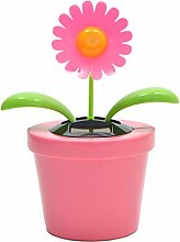 Solar-Wackelblume XXL, 23cm hoch mit rosa Blüte,
