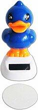 Solar WACKELFIGUR Tanzende Ente 10cm 3 Farben