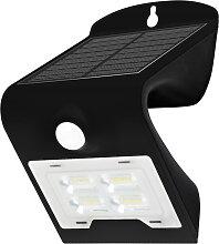 Solar Wandleuchte mit Sensor LED/2W IP65 schwarz