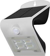 Solar Wandleuchte mit Sensor LED/2W IP65 weiss