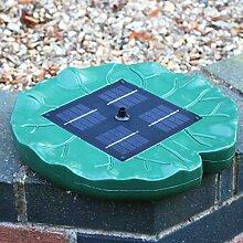 Solar-Wasser-Brunnen-Teich-Pumpen-Installationssatz - schwimmende Lilien-Auflage-Pumpe für Garten-Teich, Vogel-Bad durch PK Green