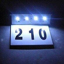 Solarbetriebene LED Hausnummer Lampe Edelstahl