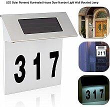Solarbetriebene LED Hausnummer Tür Licht Wand